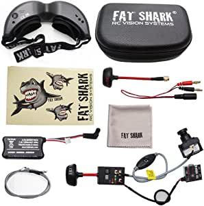 2018 New Version! Fat Shark Teleporter V5 FPV 5.8G Video Goggles W/ Head Tracking (Transmitter and Upgraded 600L CCD Camera Included)