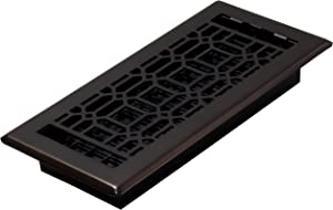 Decor Grates NGH410-RB Floor Register, 4 x 10, Rubbed Bronze