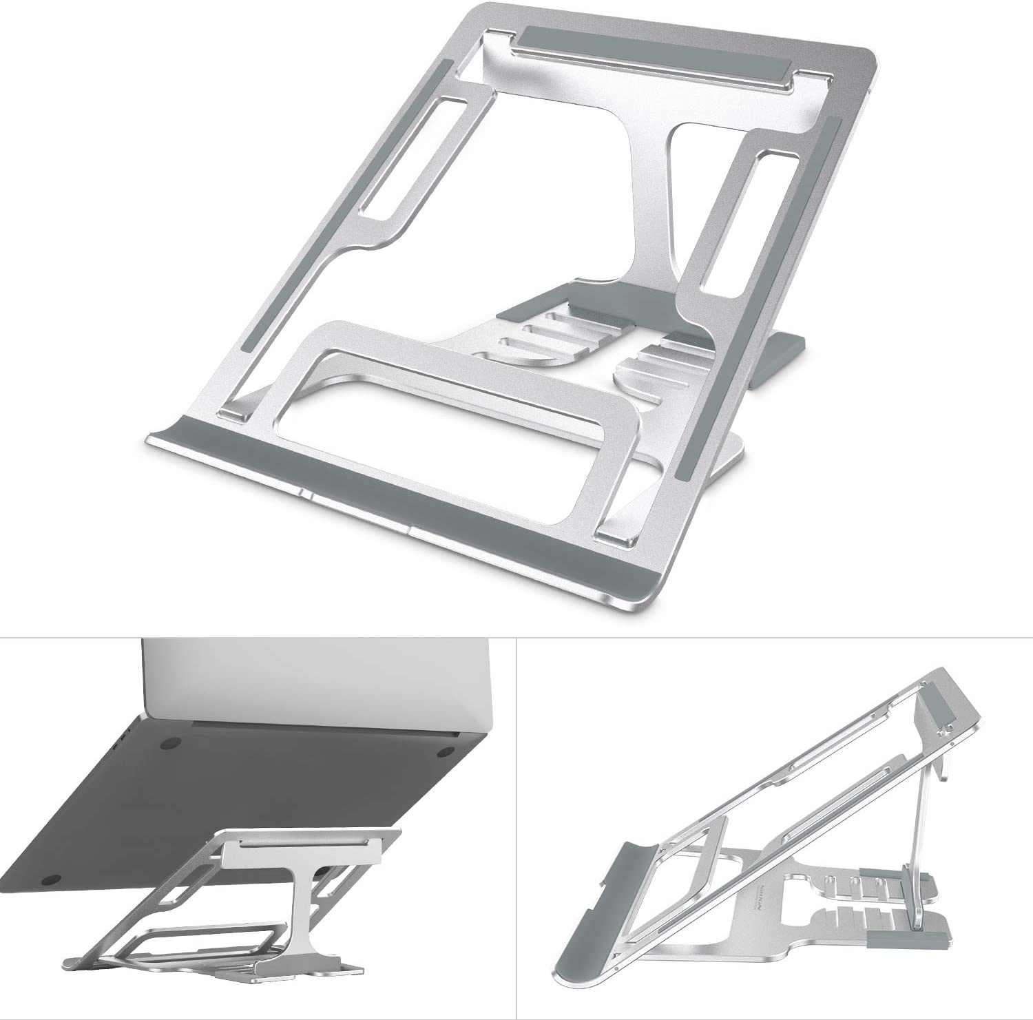 Nillkin Adjustable Laptop Stand for Desk - 5 Angles Adjustable Foldable Laptop stand Riser Holder,Ergonomic Computer Stand for Laptop,Compatible with MacBook Pro/Air,Dell, Lenovo More 11''~17'' Laptop