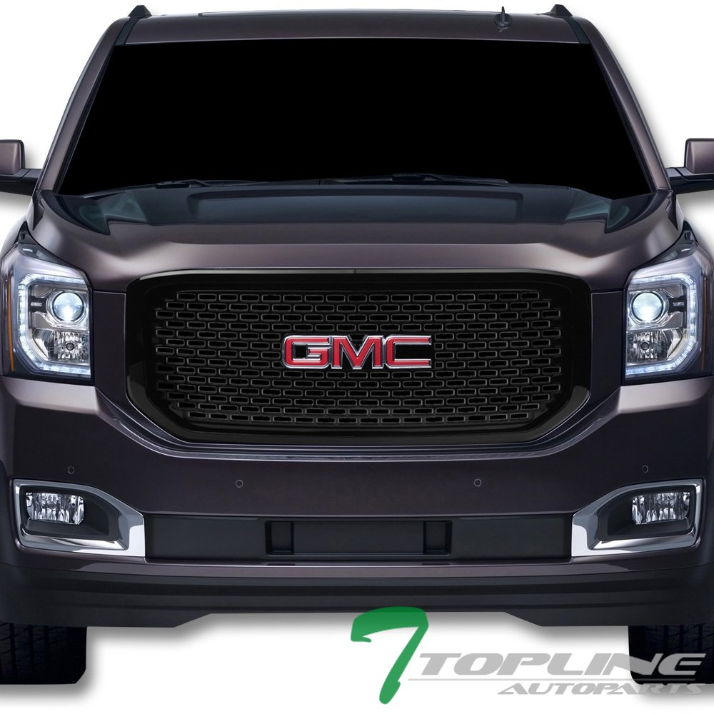 ABS Fits 15-18 GMC Yukon Denali Style Front Grille Cover Gloss Black