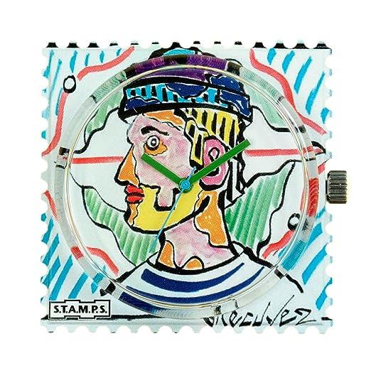 S.T.A.M.P.S. Stamps Reloj, esfera Frogman, impermeable lécuyer 1, diseño 104603: Amazon.es: Relojes