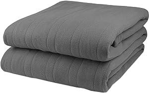 Pure Warmth Fleece Electric Heated Blanket Twin Grey