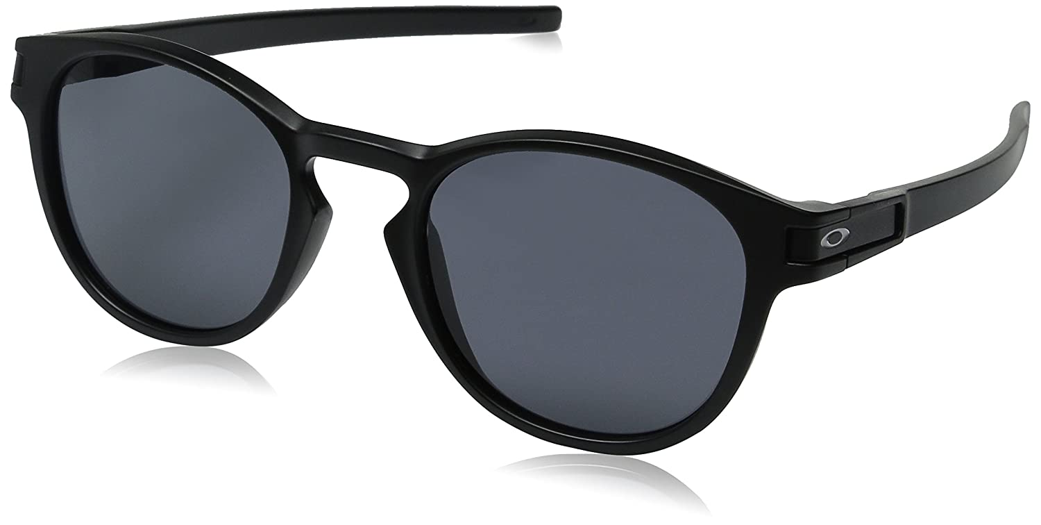 oakley outlet wrentham  amazon: oakley men's latch oo9265 01 round sunglasses, matte black, 52.6 mm: shoes