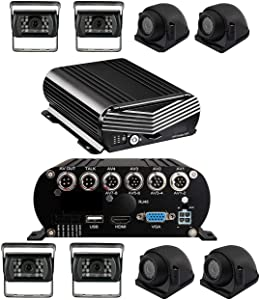 1080P MDVR Blackbox 4-8 Cam DVR System with HDD Drive, GPS & More! 2nd Generation Model (with 4 Cameras / 7 inch LCD/Single HDD Drive Slot)