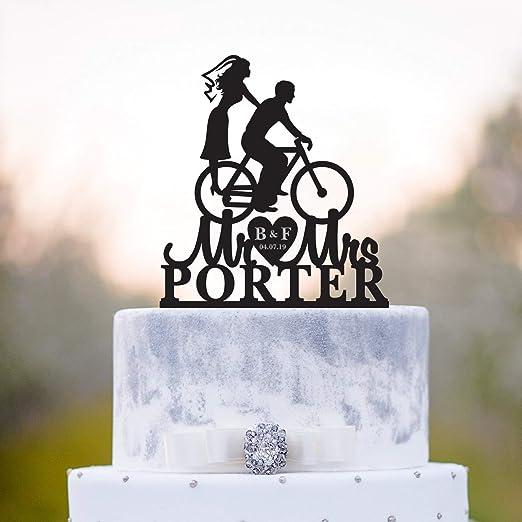 Tandem Bike Topperbike, decoración para dos tartas, decoración ...