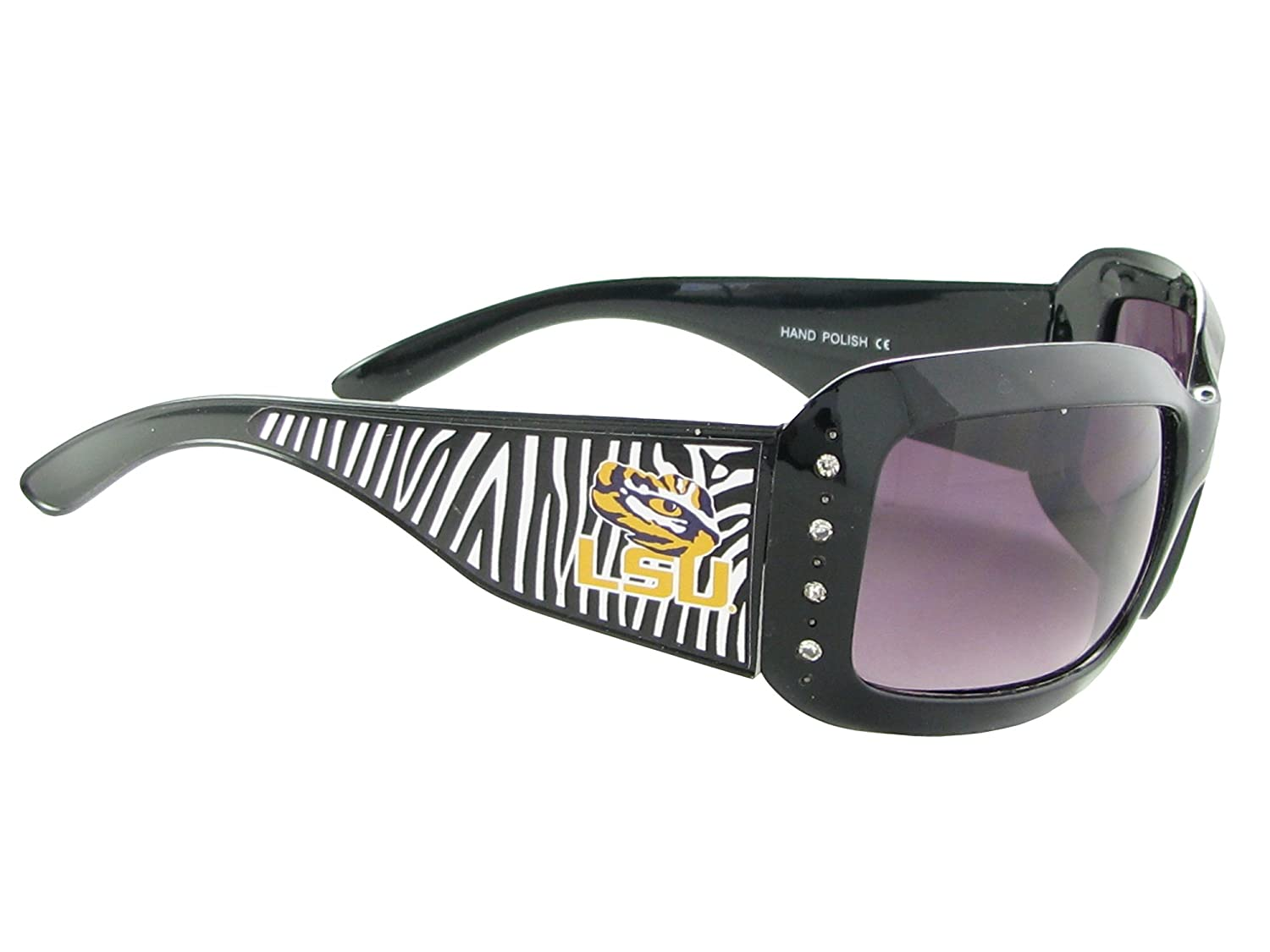 official photos fde47 dc861 Sports Accessory Store Louisiana State University Tigers LSU Black Zebra  Print Crystal Sunglasses S4ZB