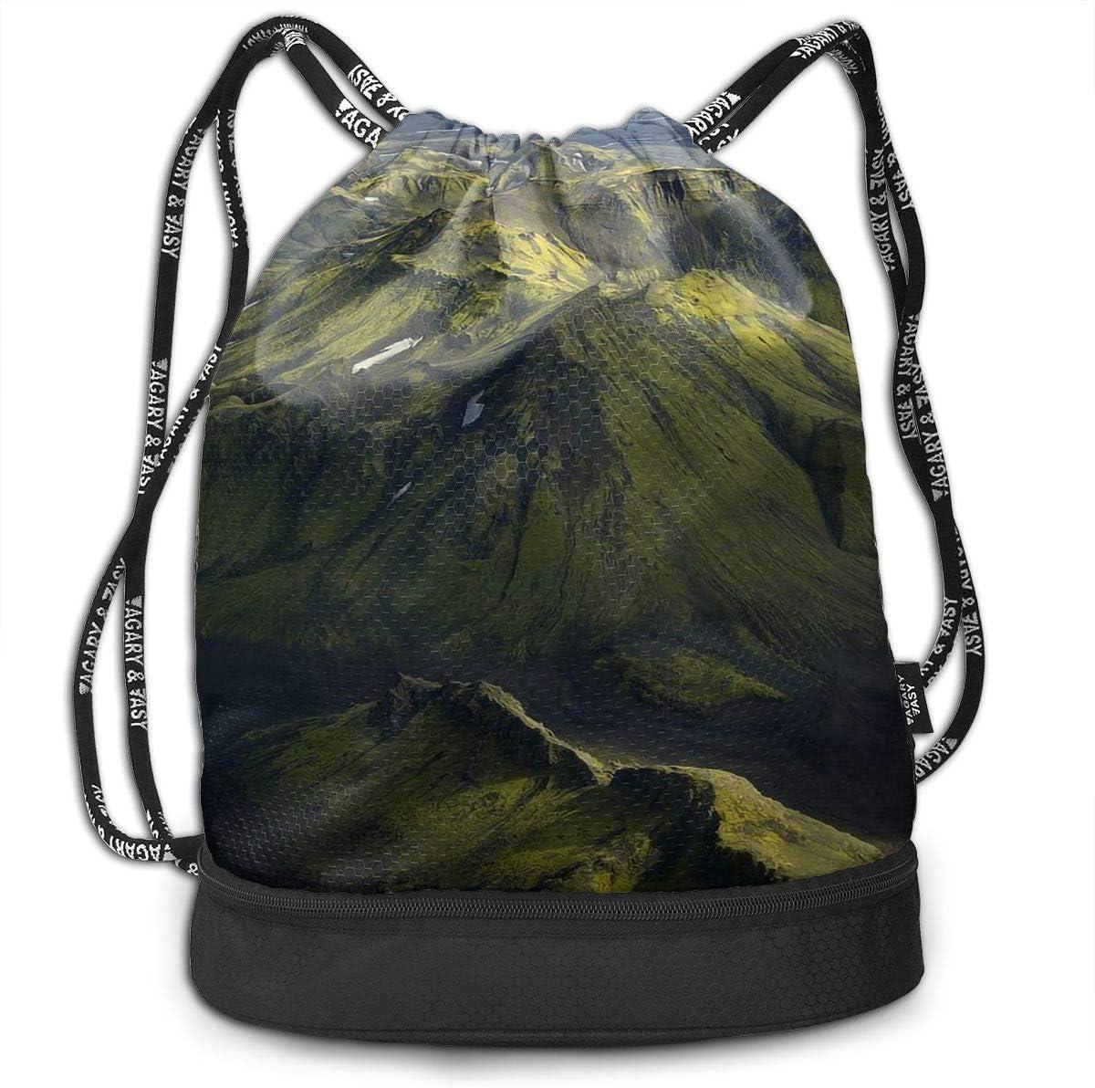 Drawstring Backpack Beautiful Mountains Rucksack