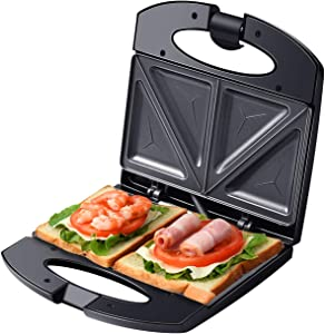 Auertech Sandwich Maker, 800W Toaster and Electric Panini Press Omelette Grilled Cheese Machine with Non-Stick Plates, Indicator Lights, Cool Touch Handle (1)