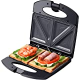 Auertech Sandwich Maker, 800W Toaster and Electric Panini Press Omelette Grilled Cheese Machine with Non-Stick Plates, Indica
