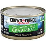 Crown Prince Natural Fancy White-Lump Crab Meat, 6-Ounce Cans (Pack of 12)
