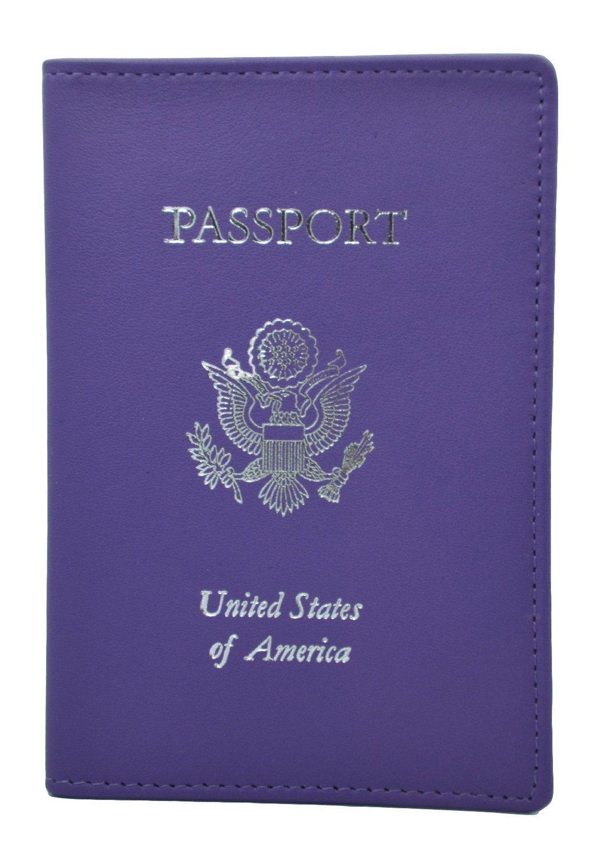 ROYCE RFID Blocking Passport Travel Organizer, Purple, One Size
