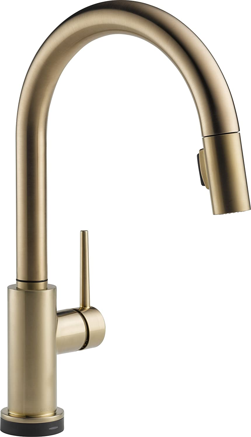 Delta Faucet Trinsic Single Handle Touch Kitchen Sink Faucet With Pull Down Sprayer Touch2o Technology And Magnetic Docking Spray Head Champagne