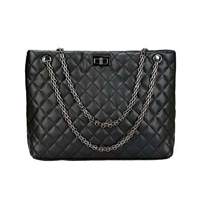 Quilted Handbags For Women Metal Chain Strap Purse Shoulder Bags