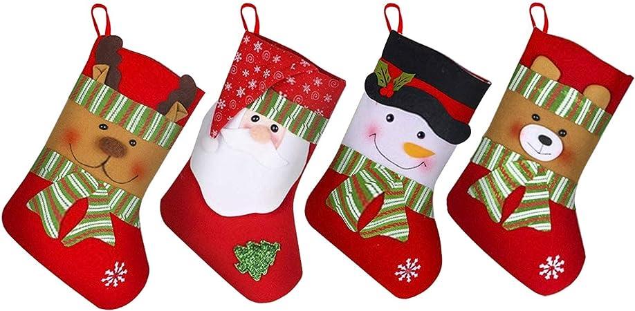 N//A Harley Davidson Merry Christmas Socks calze di Natale Babbo Natale calze Babbo Natale Natale calze borsa decorazione Natale calzini rosso