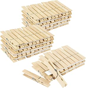 Juvale Large Wooden Clothespins (4 x 5 Inches, 100- Pack)