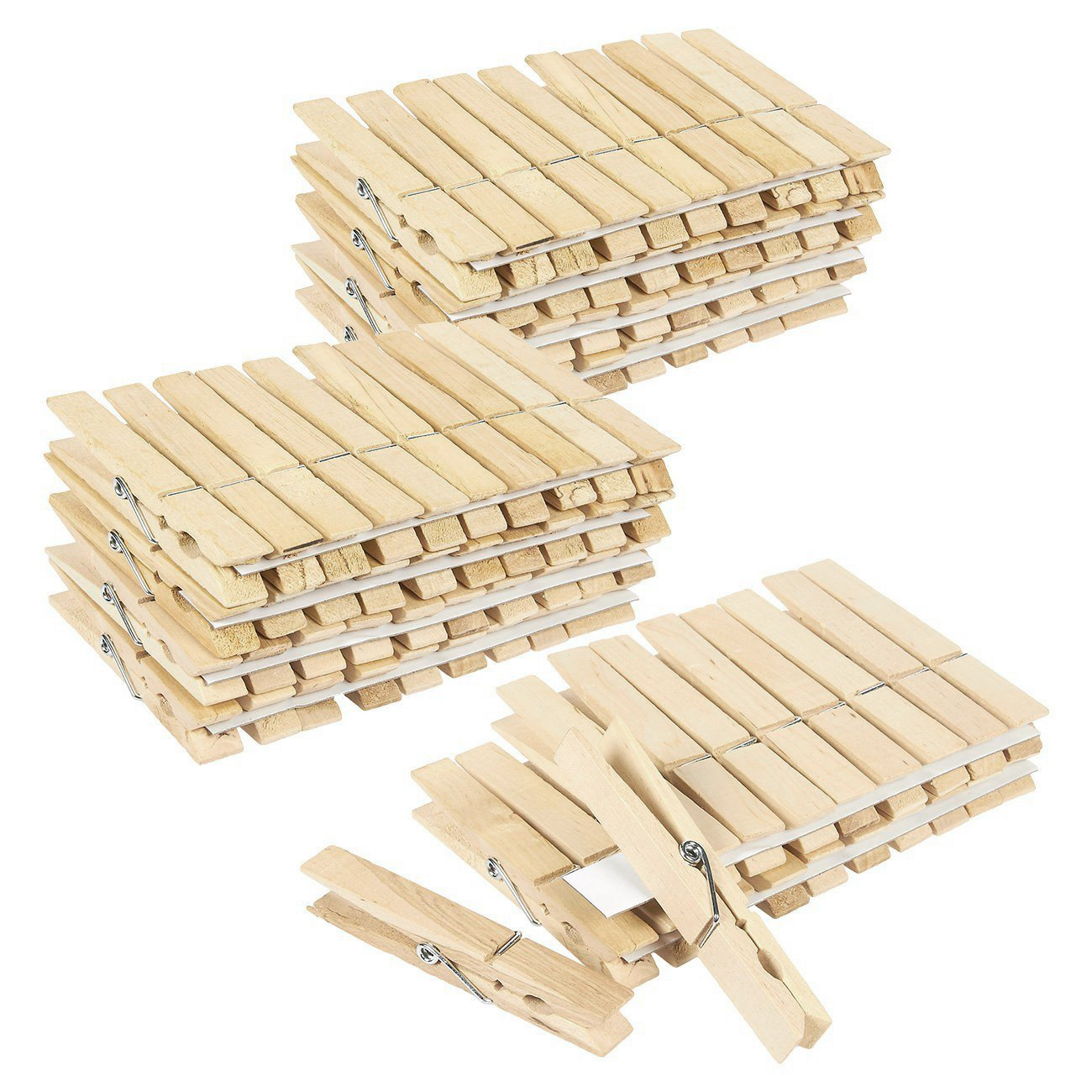 Juvale 100 Pack - Wooden Clothespins - Large Clothes Pegs Laundry, Arts, Crafts, Decoration, 4 x .5 x .5 inches by Juvale