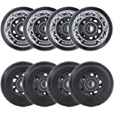 AOWISH 8-Pack Asphalt Outdoor Inline Hockey Wheels 85A Blades Roller Skates Replacement Wheel with Speed Bearings ABEC-9…