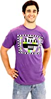 """Boutique TV The Big Bang Theory Sheldon """"Motif carreaux Violet T-shirt pour homme Taille XXXL (pour adultes)"""