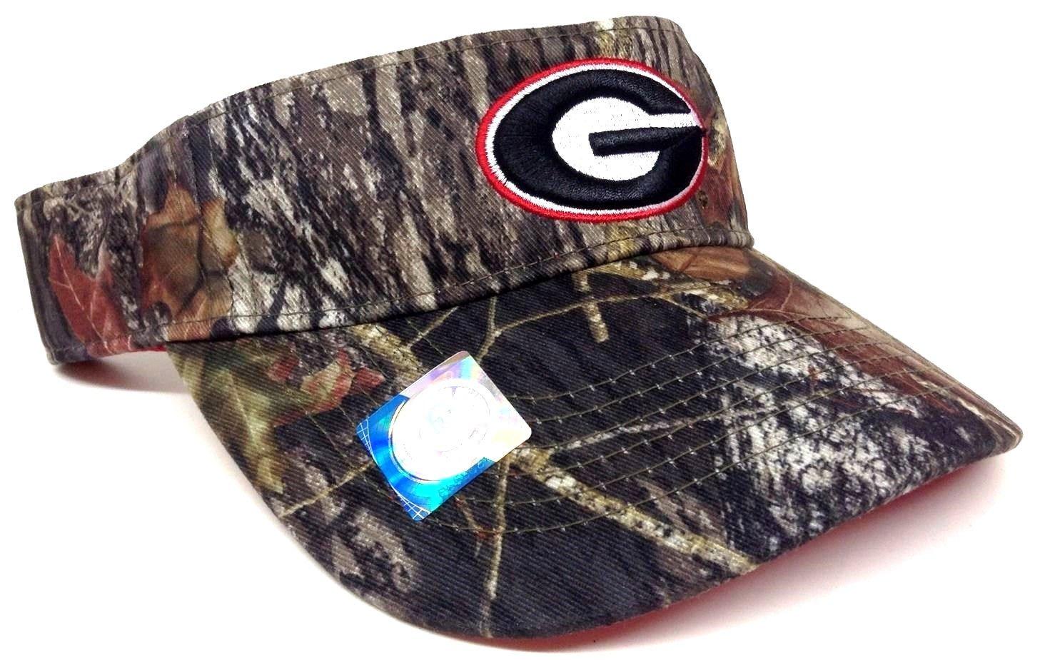 Amazon.com   Visor Georgia Bulldogs Mossy Oak Camouflage Camo Hat Cap    Sports   Outdoors 350cf298722