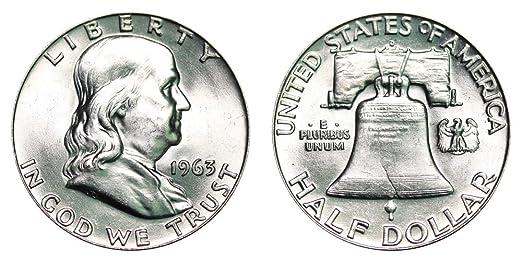 1963 D Franklin Half Dollar $ 50 Brilliant Uncirculated at Amazon's