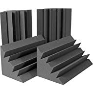 "Auralex Acoustics LENRD Acoustic Absorption Bass Traps, 24"" x 12"" x 12"", 4 Pack, Charcoal"