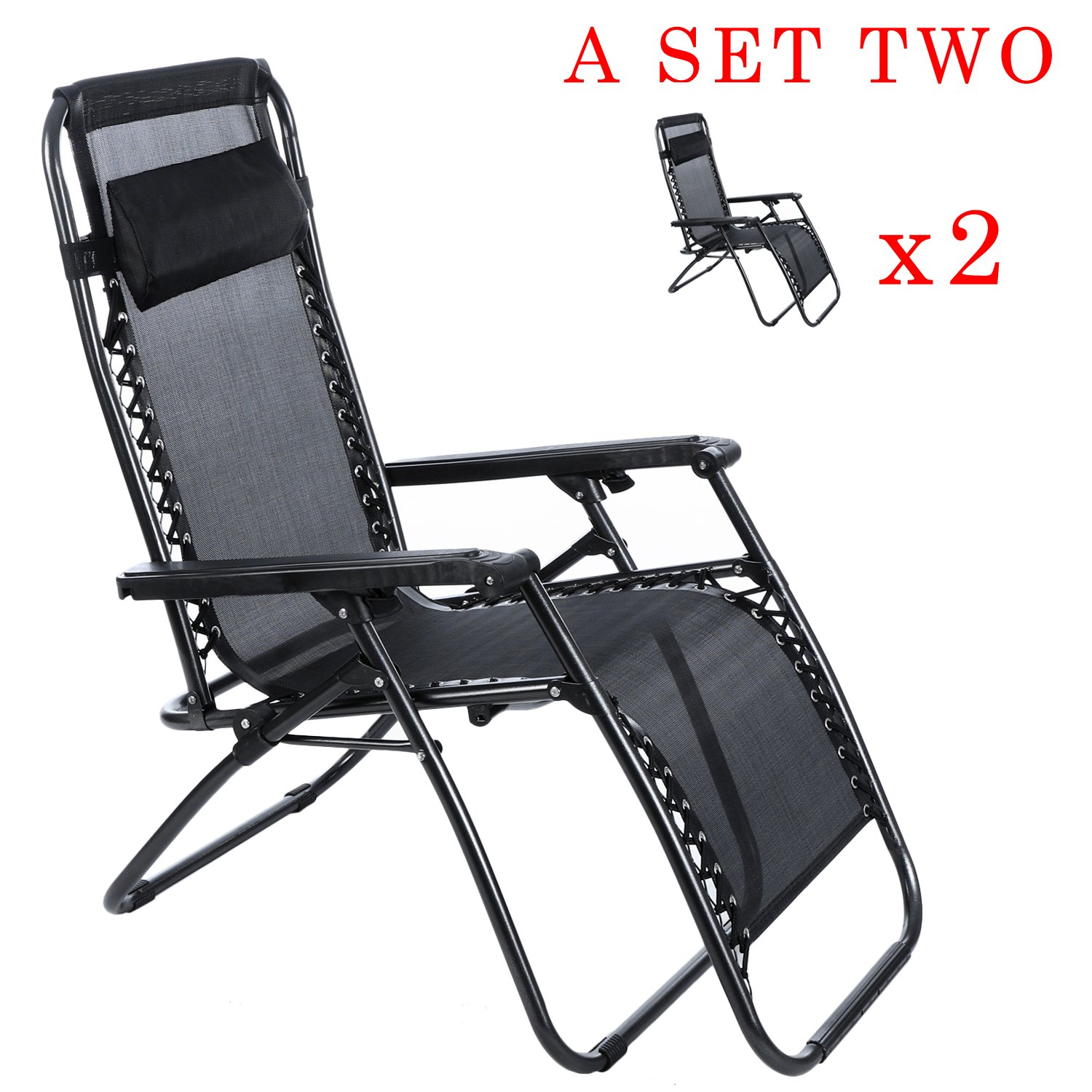 Amazon Ancheer Zero Gravity Chairs Sets of Two Outdoor