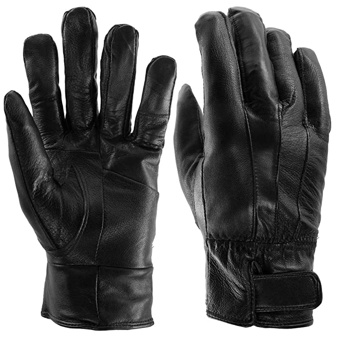 e29783d48aa35 Image Unavailable. Image not available for. Color: Sole Trends (1 Pair)  Insulated Genuine Leather Gloves For Men Black Warm Light Fleece