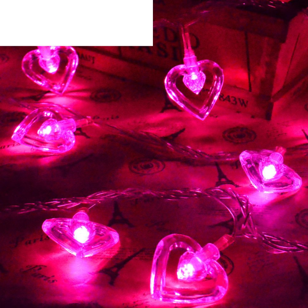 LED colored lights flashing light Double of love light chain Christmas lights-F