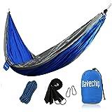 Campeggio Amaca Datechip ultra leggero portatile Parachute Amache per 2 persona Limitato di carico di 300 kg con poliestere Amaca cinghie per Campeggio viaggio Escursionismo All'aperto