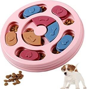 Suwikeke Dog Puzzle Toys, Interactive Dog Game Puzzle Toy, Treat Dispensing for Puppy Training Playing, Slow Feeder to Aid Small Dog Digestion, Improve Pet IQ, Specially Designed for Training Treats