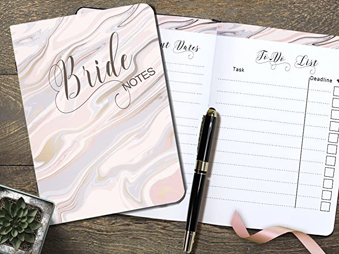 Amazoncom My Bride Notes Cute Wedding Planning A5 Notebooks for