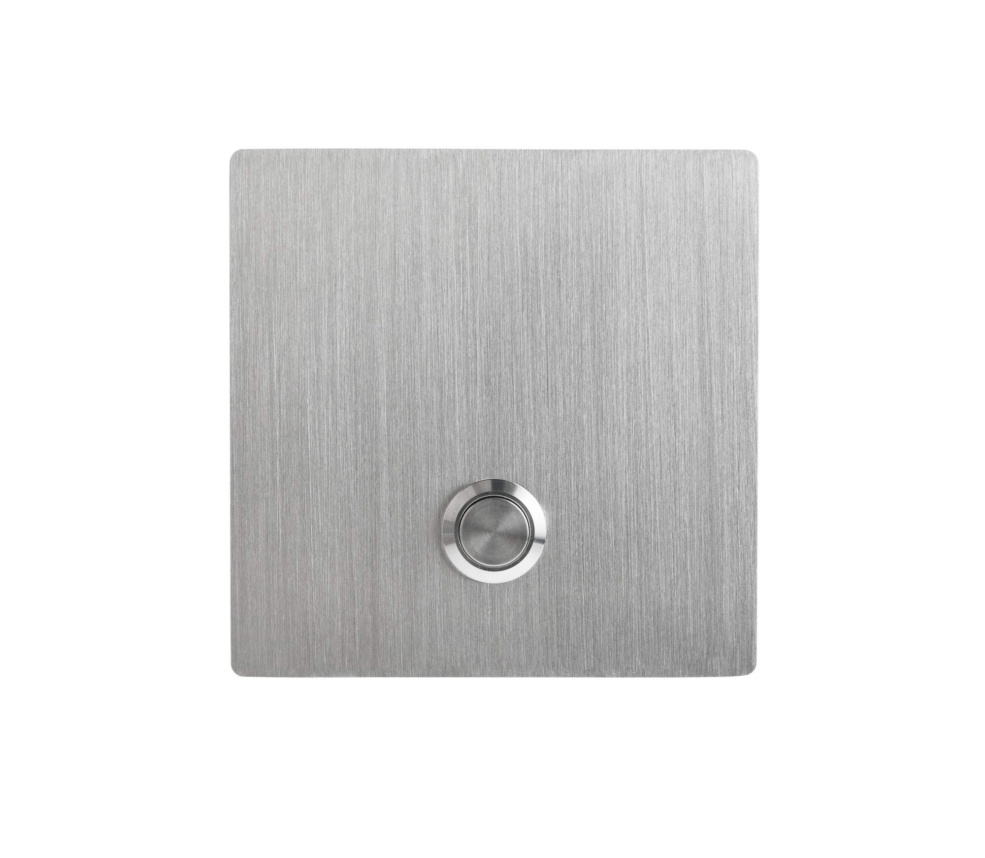 Modern Stainless Hardware Model S1 Stainless Steel Doorbell Button in grade 304 Stainless Steel 4mm thick