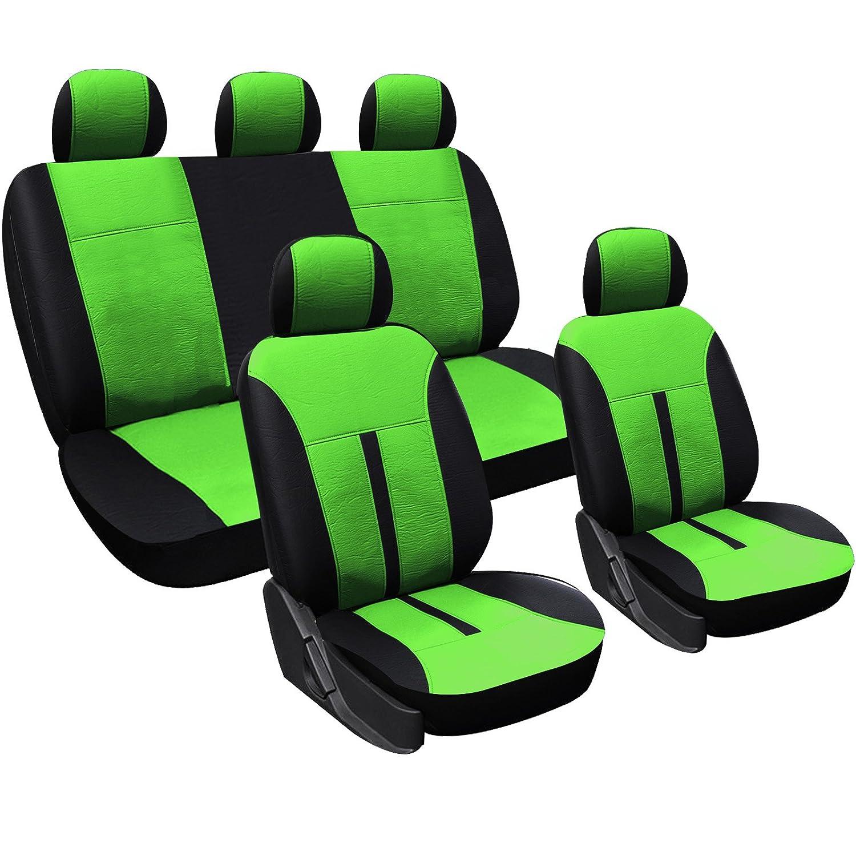 EUGAD Sitzbez/üge f/ür Auto Schonbez/üge Sitzbezug Schonbezug Set f/ür PKW ohne Seitenairbag Schwarz-blau 0077QCZT