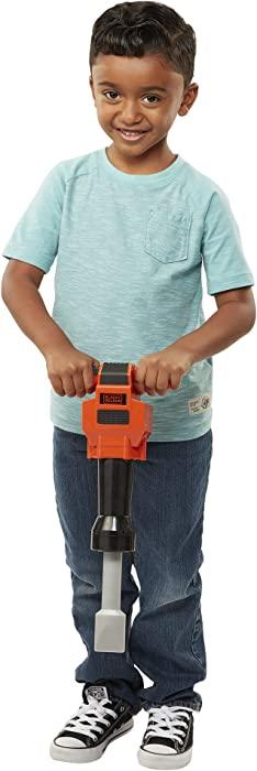 BLACK+DECKER Junior Kids Power Tools - Jackhammer with Realistic Sound & Action! Role Play Tools for Toddlers Boys & Girls Ages 3 Years Old and Above, Get Building Today!