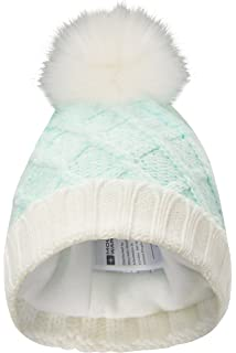 8a091922971 Mountain Warehouse Thinsulate Pom Pom Winter Beanie - Lightweight   Warm  Thinsulate Fabric with Chunky Knit
