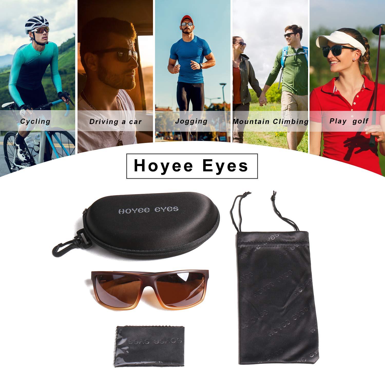 a1491bb9bcd Amazon.com  Hoyee Eyes Men Polarized Aluminum UV protection Sunglasses Brown   Clothing
