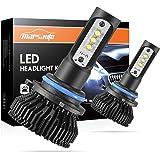Marsauto 9005/HB3 LED High Beam Headlight Bulbs Conversion Kit Increase Visibility and Safety, 9145/H10 Fog Light Bulbs