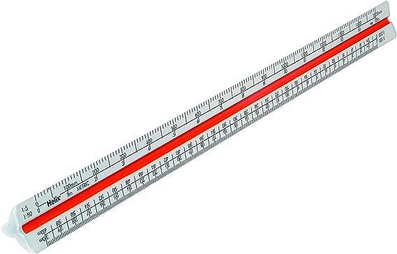 Helix 30cm Tri Scale Aluminium Ruler