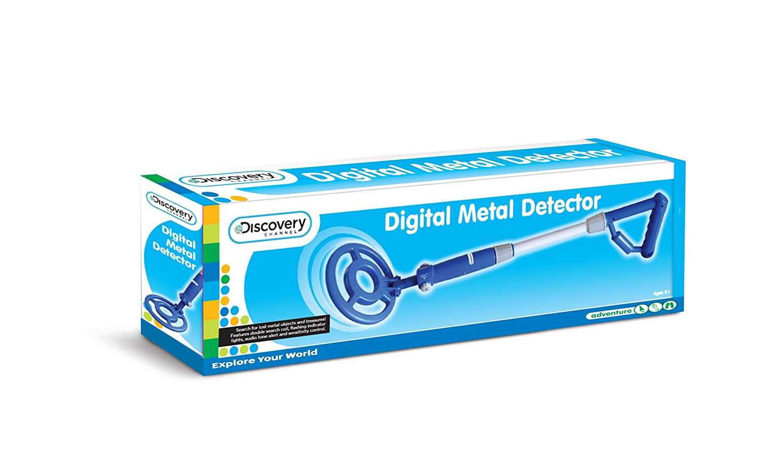 Discovery Channel - Detector de Metal D28 con Luces LED, de Juguete: Amazon.es: Juguetes y juegos