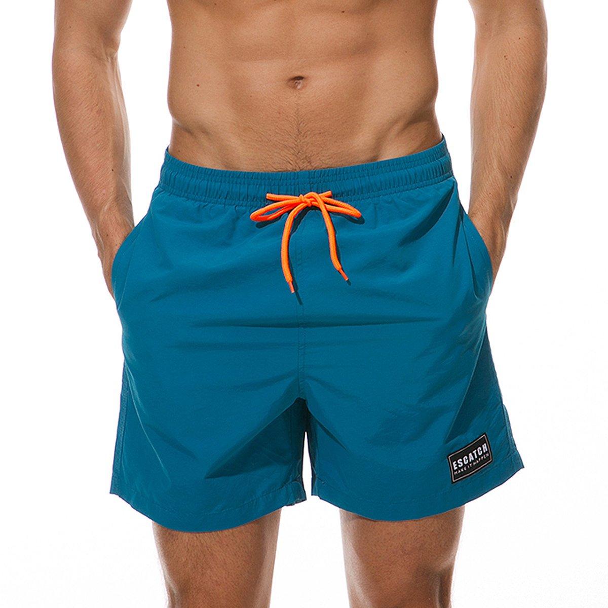 MODCHOK Hombre Bañadores de Natación Pantalones Cortos Baño Bóxers Playa Shorts