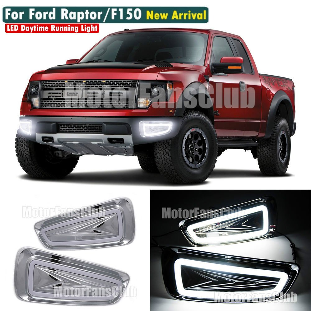 MotorFansClub Daytime Running Lights Fog Lamp LED DRL for Ford F150 Raptor SVT 2009-2015