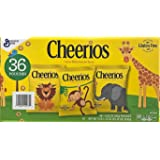 Cheerios Toasted Whole Grain Oat Cereal - Gluten Free - 36 Pouches - Value Pack!