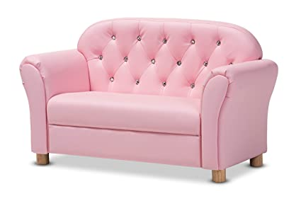 Peachy Amazon Com Baxton Studio 151 9237 Amz Loveseats Pink Onthecornerstone Fun Painted Chair Ideas Images Onthecornerstoneorg