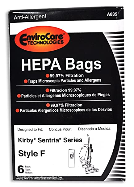Amazon.com - EnviroCare Kirby A835 Sentria HEPA 6 Pack Paper ...
