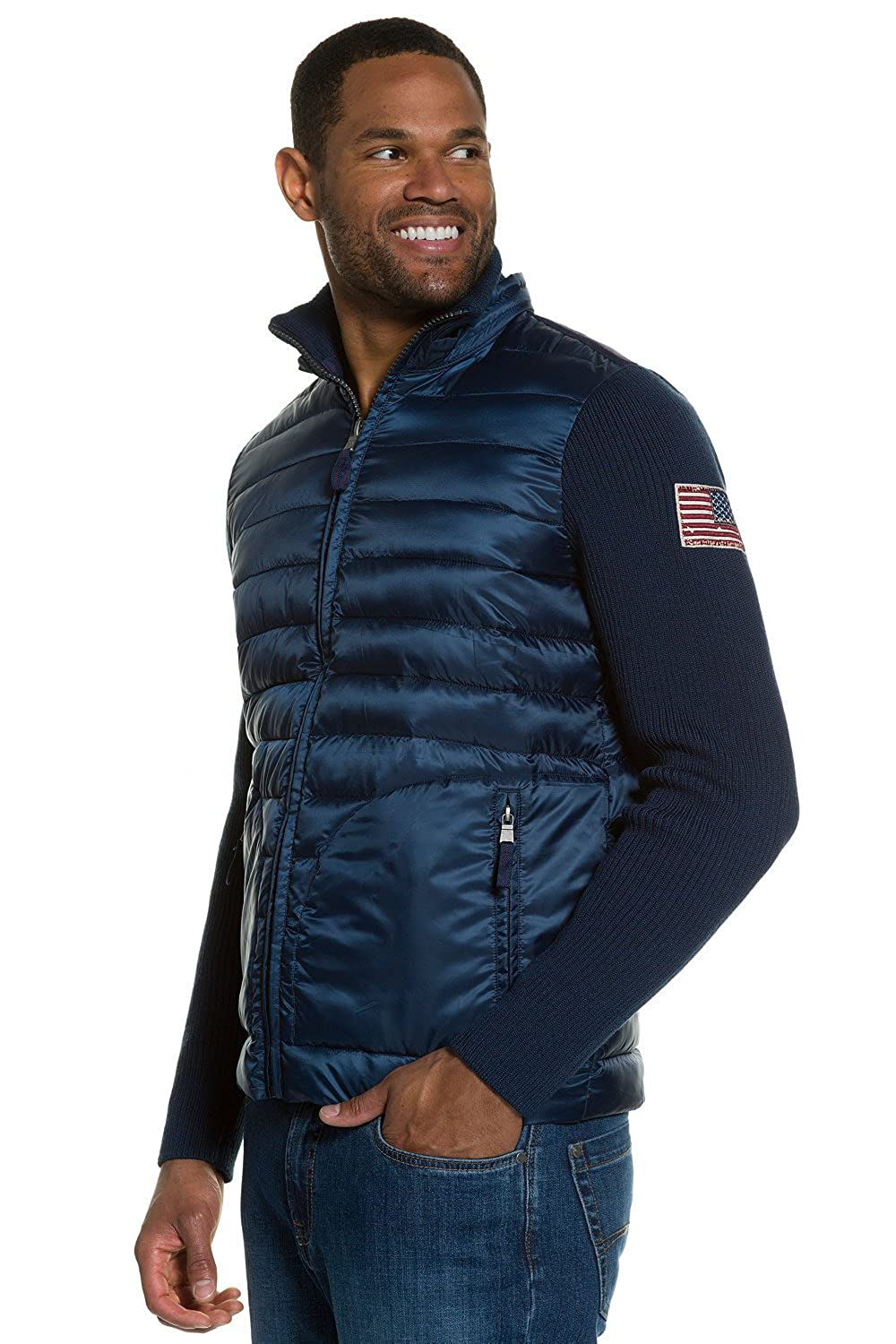 JP1880 Men's Big & Tall Quilted Jacket Navy X-Large 704303 70-XL