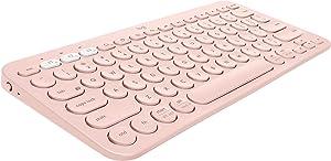 Logitech K380 Multi-Device Wireless Bluetooth Keyboard for Mac - Rose (Renewed)