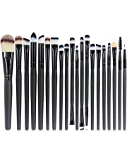 EmaxDesign 20 Pieces Makeup Brush Set Professional Face Eye Shadow Eyeliner Foundation Blush Lip Make up Brushes Powder Liquid Cream Cosmetics Blending Brush Tool