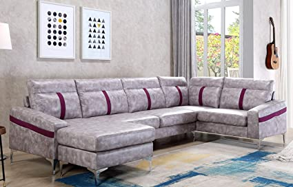 Harper U0026 Bright Designs Modern Sectional Sofa L Shape Couch With Wide Chaise
