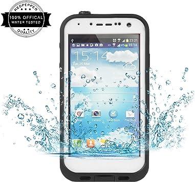 Redpepper Samsung Galaxy S4 Carcasa, IP68 Impermeable Carcasa funda con Protector de Pantalla, anti-agua, anti-polvo, anti-salpicadura, anti-impacto para Samsung Galaxy S4, White: Amazon.es: Electrónica