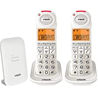 VTech CLS18451 VTECH 18450 CARELINE 2 HANDSET DECT6.0 Cordless Phone with VSMART White